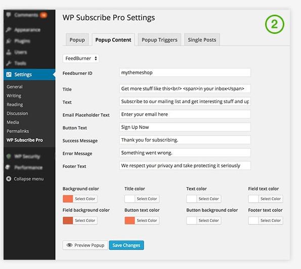 Плагин WP Subscribe Pro • 6 • Финты WordPress