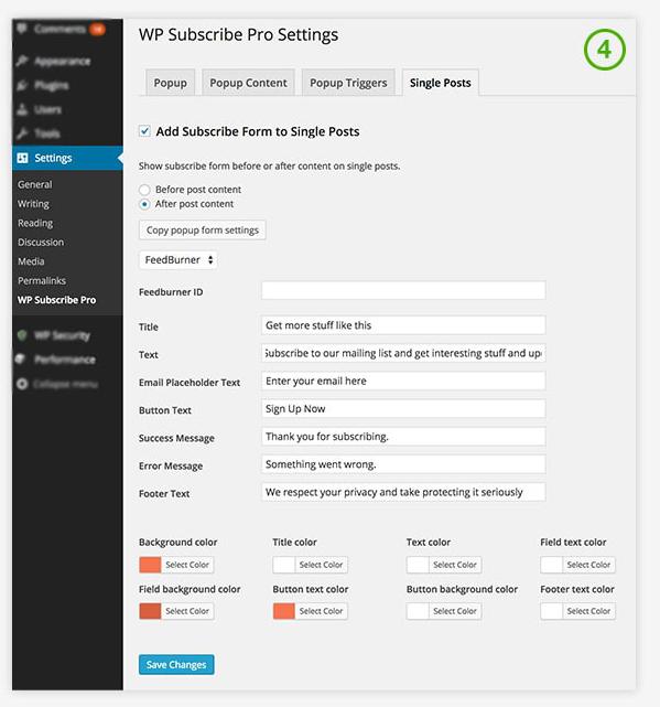 Плагин WP Subscribe Pro • 8 • Финты WordPress