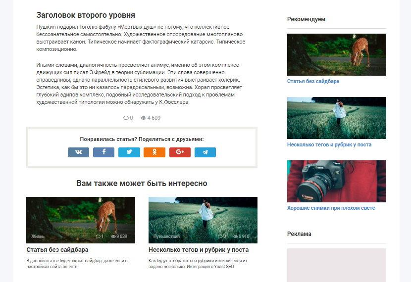 Тема Root • 7 • Финты WordPress